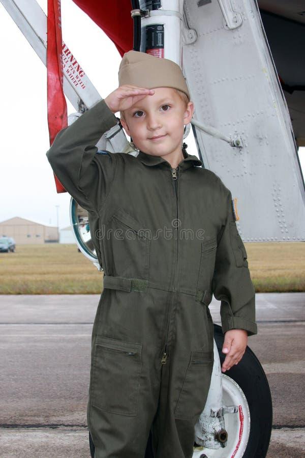 Pilot Boy Royalty Free Stock Images
