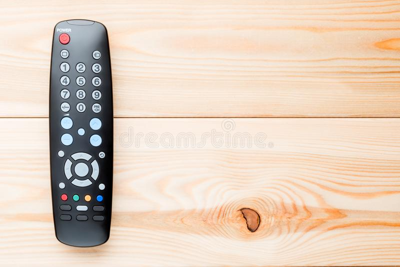 Pilot do TV dla wyłaczać kanały na telewizorze fotografia stock