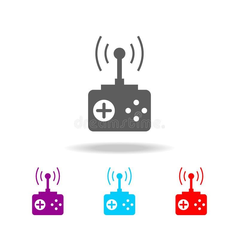 Pilot Do TV ikony Elementy nowa technologia w wielo- barwionych ikonach Premii ilości graficznego projekta ikona Prosta ikona dla royalty ilustracja