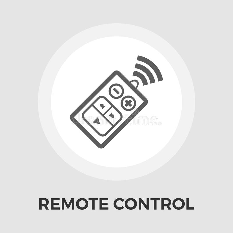 Pilot do TV mieszkania ikona ilustracji