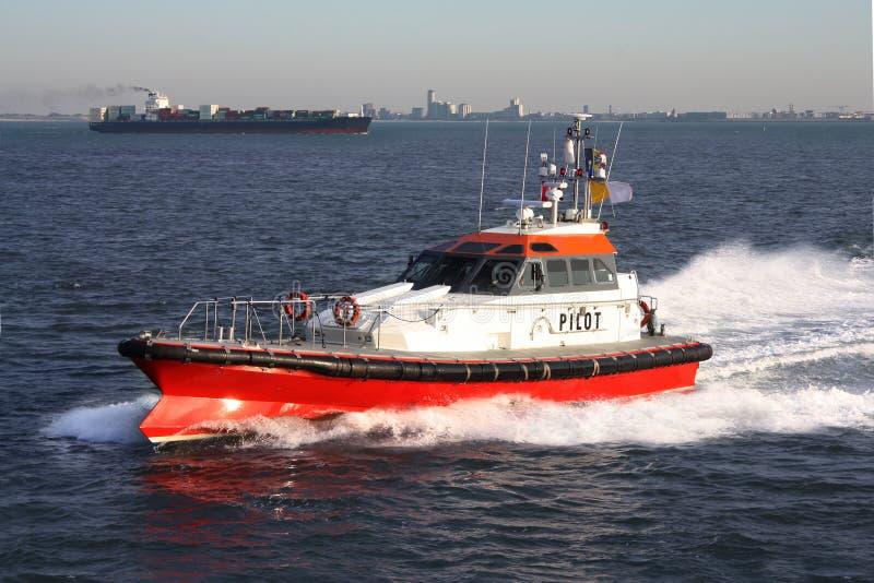 Pilot- fartyg royaltyfria bilder