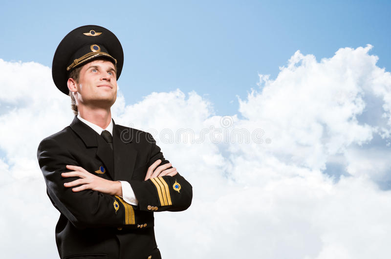 Download Pilot Is In The Form Of Arms Crossed Stock Image - Image: 30395835