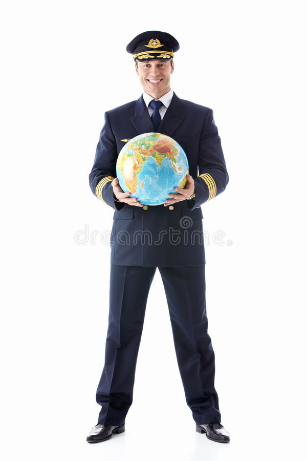 Download The pilot of a globe stock photo. Image of happiness - 23817172