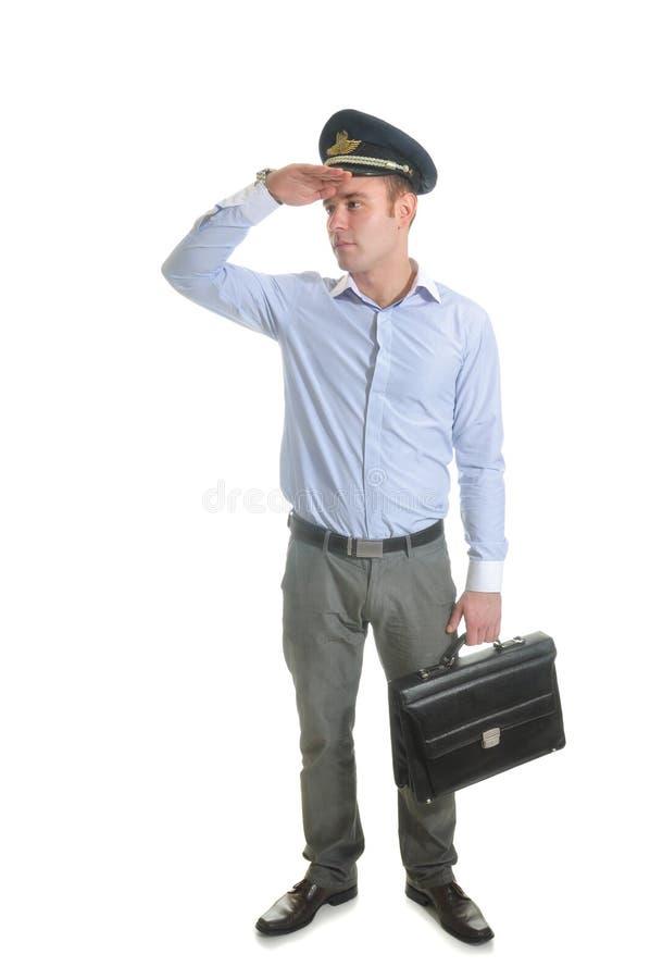 Download Pilot stock photo. Image of person, avia, caucasian, briefcase - 34362252