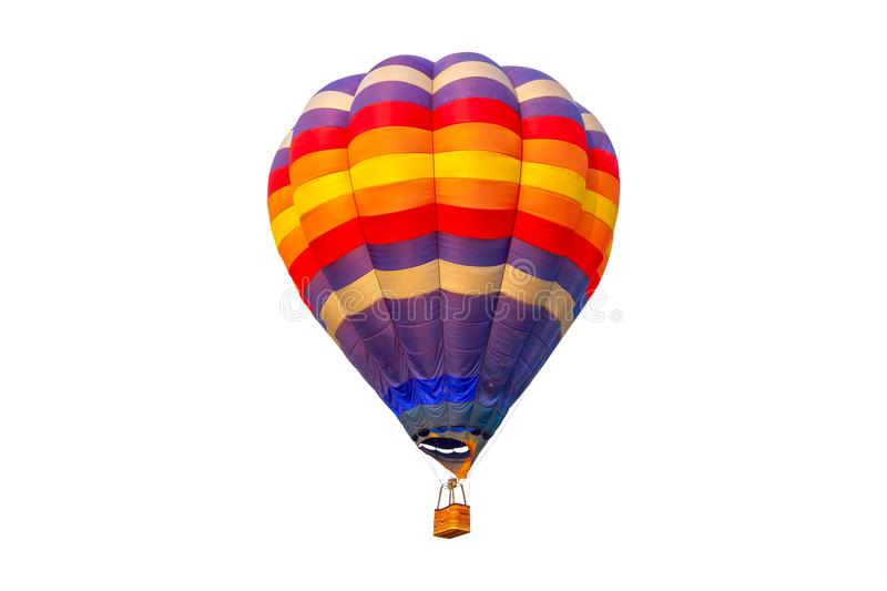 Pilot hot air balloon isolated on white background stock images