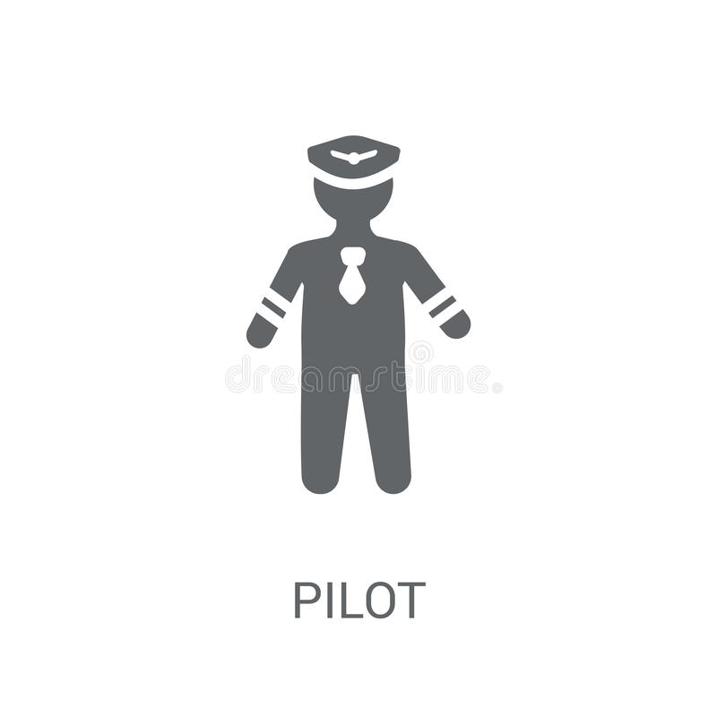 Pilot icon. Trendy Pilot logo concept on white background from P vector illustration