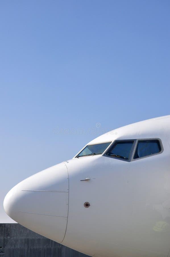 Pilot- kabin för flygplan arkivfoto