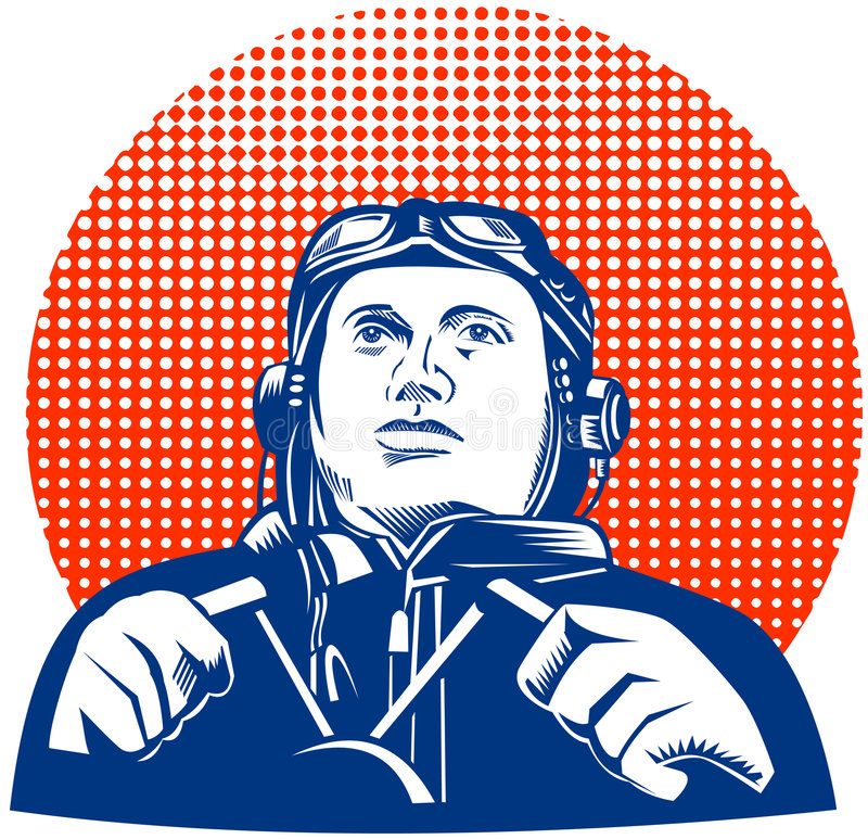 Download Pilot looking up stock illustration. Image of airman, white - 6549042