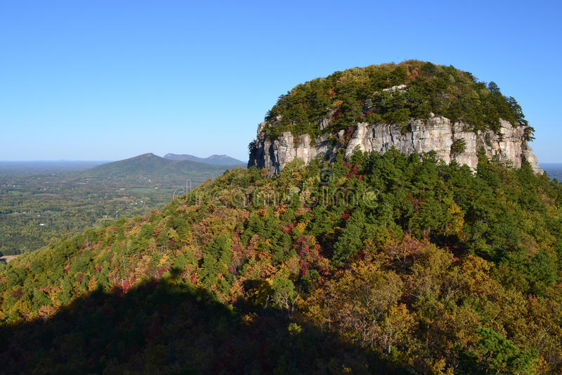 Pilot-Mountain State-Park-Herbst stockfoto