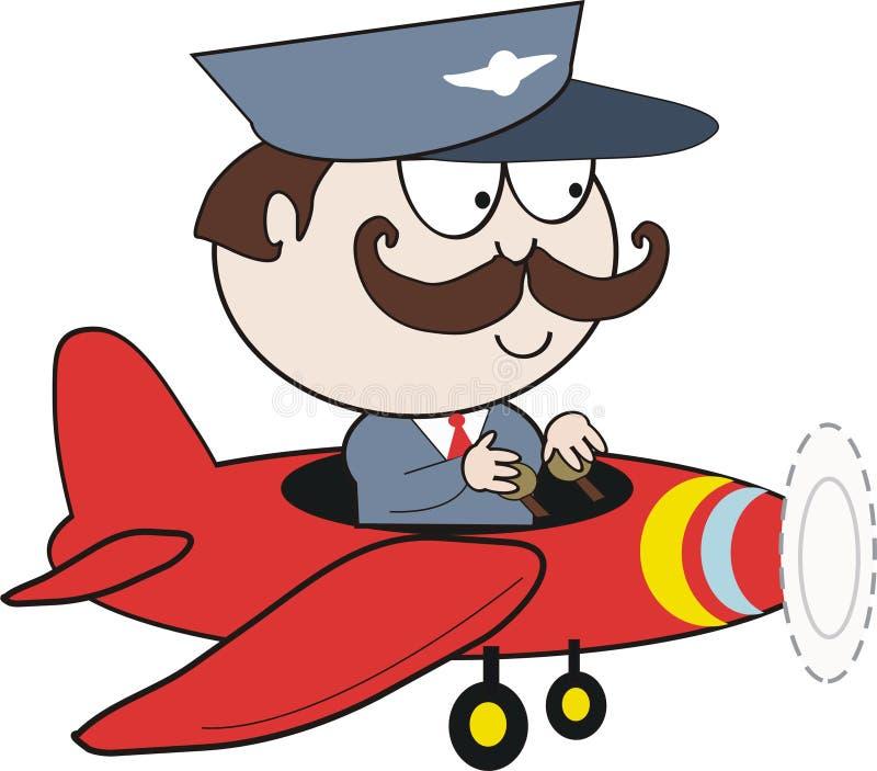 pilot in plane cartoon stock illustration illustration of humor rh dreamstime com airplane pilot cartoon images new yorker airplane pilot cartoon