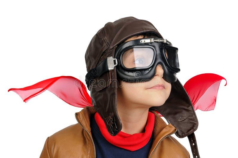 Pilot- pojke royaltyfria bilder