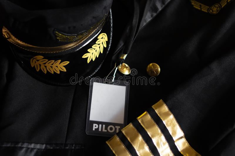 Pilot uniform  profession  airline  crew aviator professional stock image