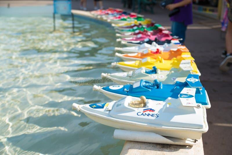 Pilot zabawkarskie łodzie zdjęcia royalty free