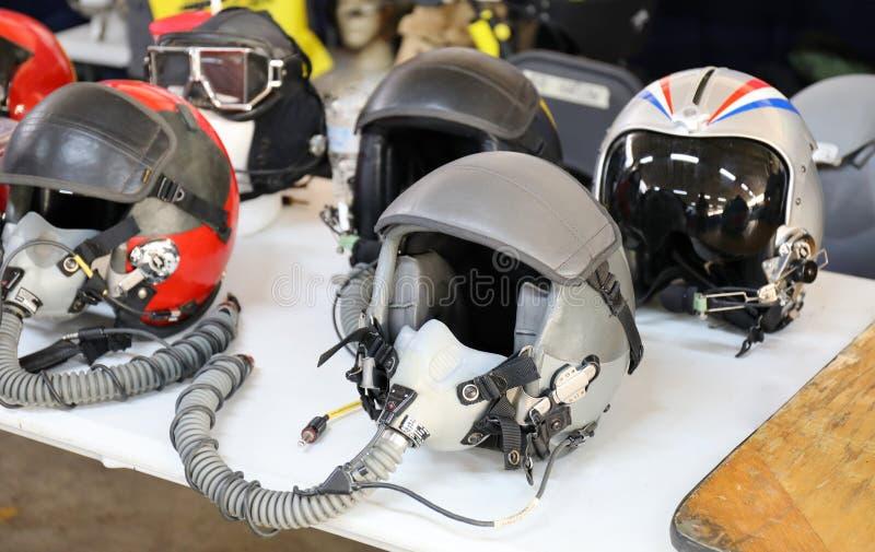 Pilota da combattimento Helmets immagine stock