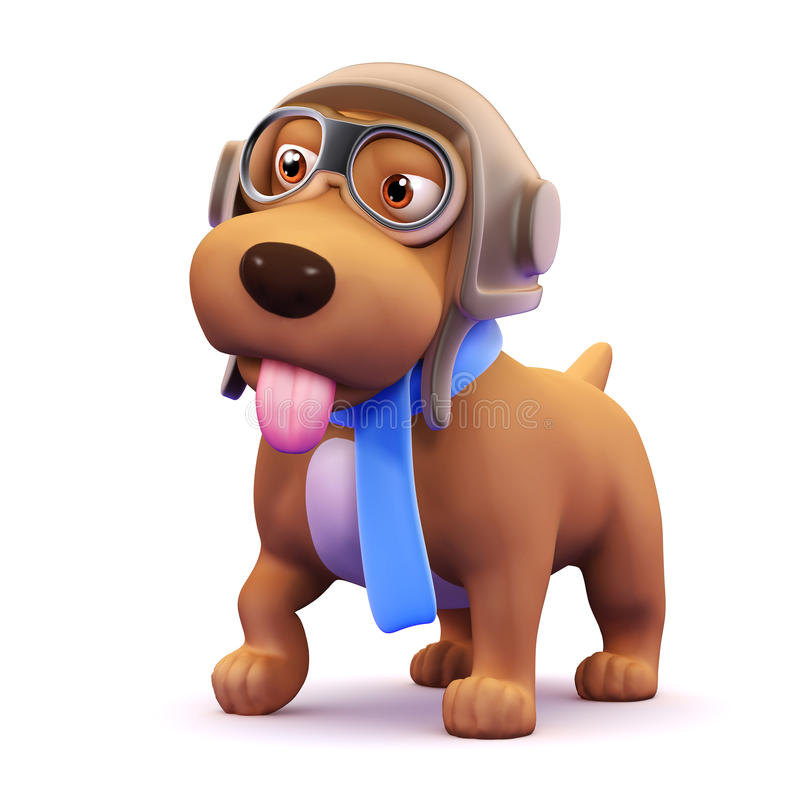 pilota del cane 3d royalty illustrazione gratis