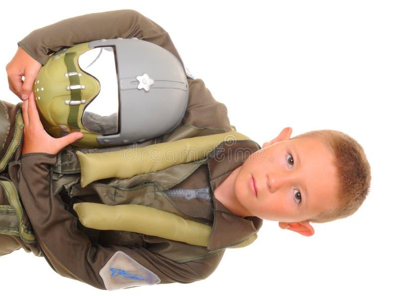 Pilota del ragazzo fotografie stock