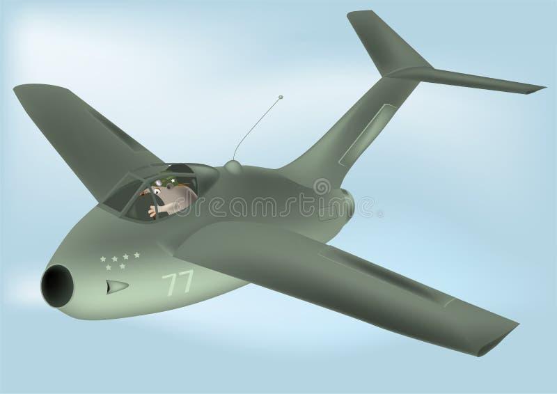 pilota dell'aereo illustrazione vettoriale