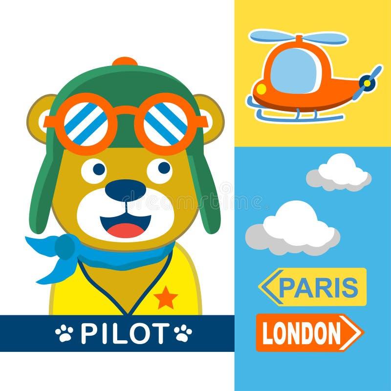 Pilota dell'orso illustrazione vettoriale