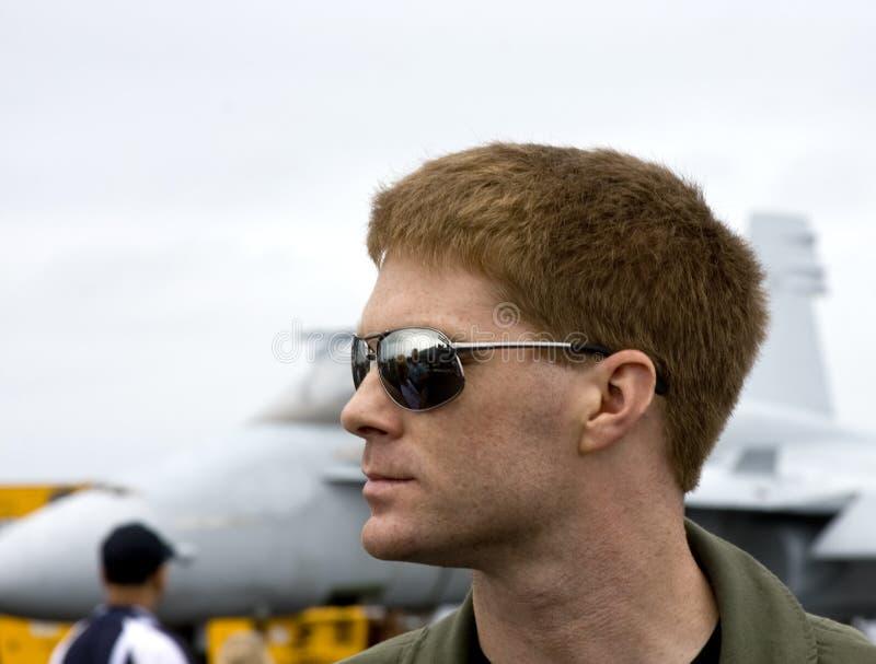 Pilota di jet immagine stock