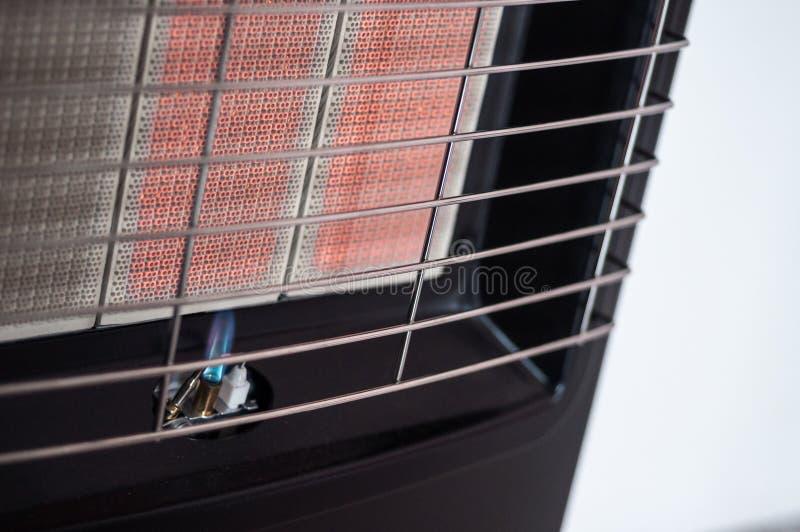 Pilota-fiamma su un riscaldatore a gas portatile immagine stock libera da diritti