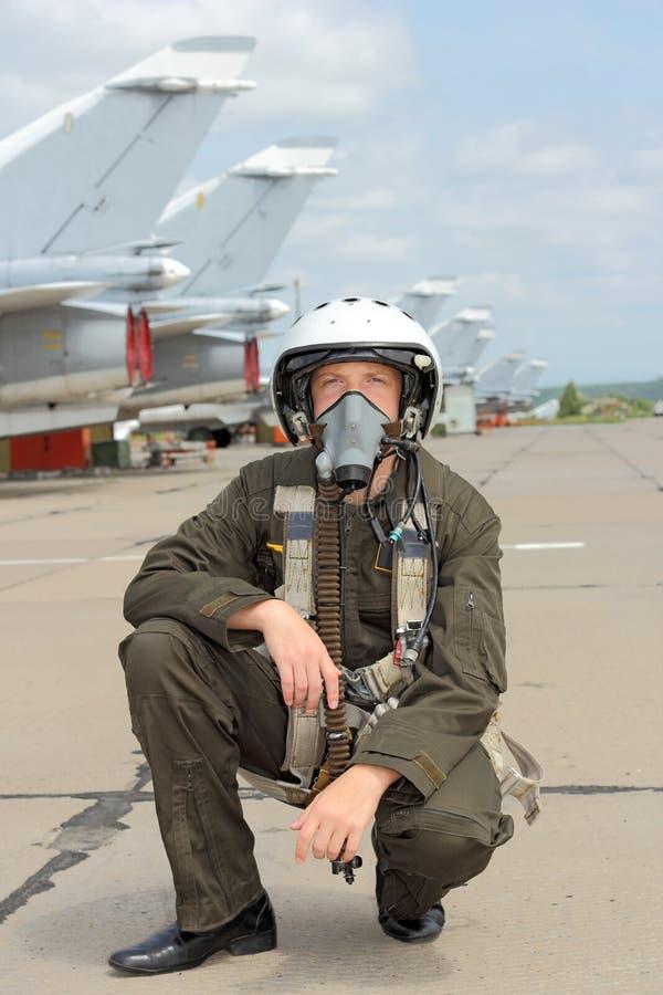 Pilota militare fotografie stock