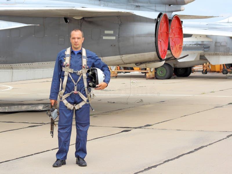 Pilota militare fotografia stock