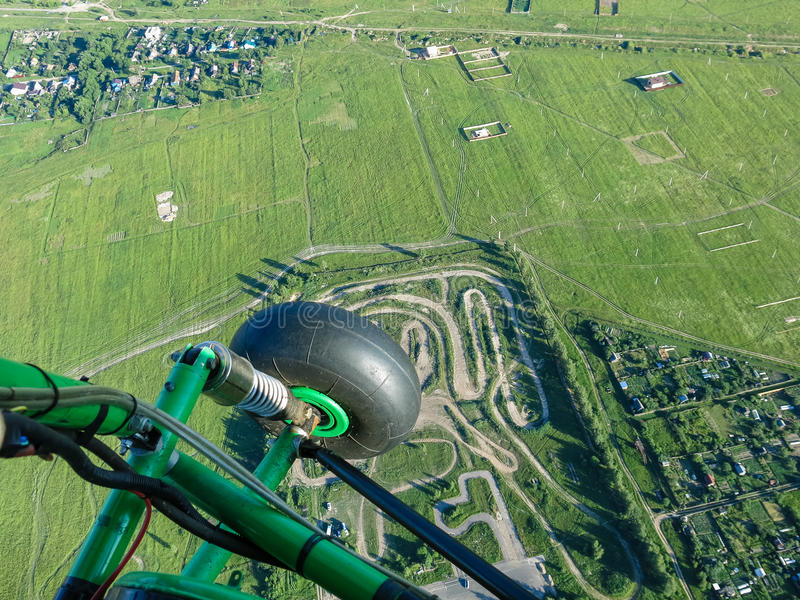 Pilotage de Hangglider photo libre de droits