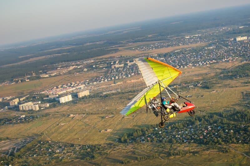 Pilotage de Hangglider photos libres de droits