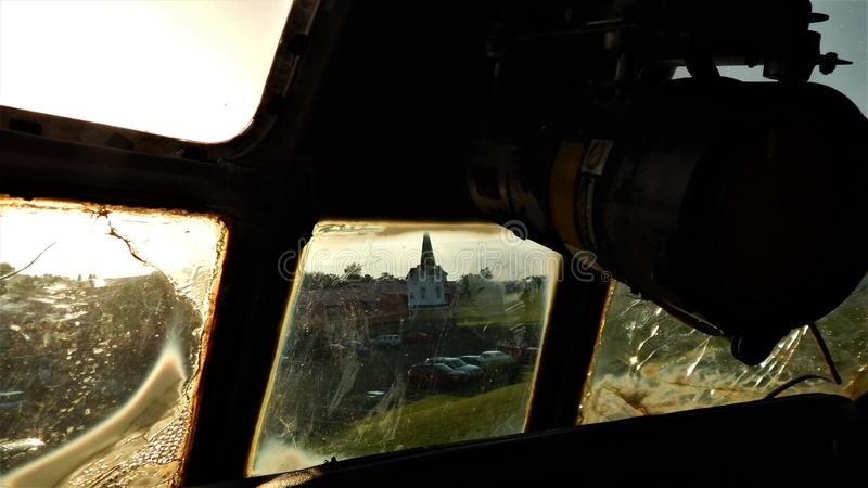 Pilotansicht des Kirchturms lizenzfreie stockfotos