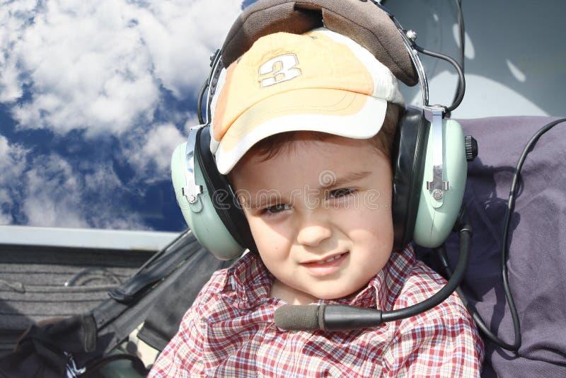 pilotbarn royaltyfria bilder