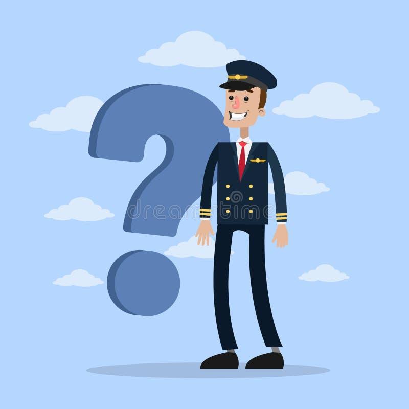 Pilote avec la question illustration libre de droits