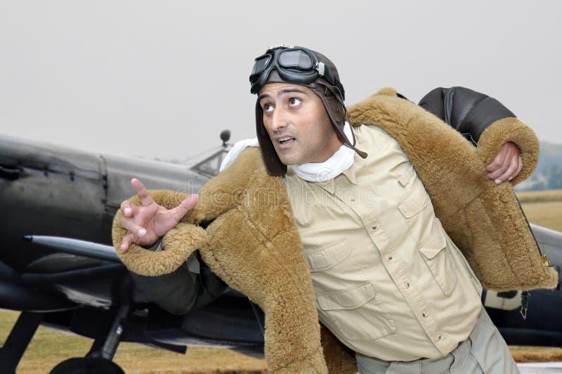 Pilote d'avion de chasse photo libre de droits