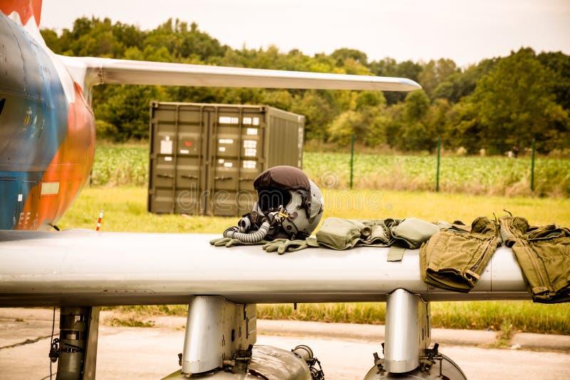 Pilote d'avion de chasse Equipment photo libre de droits