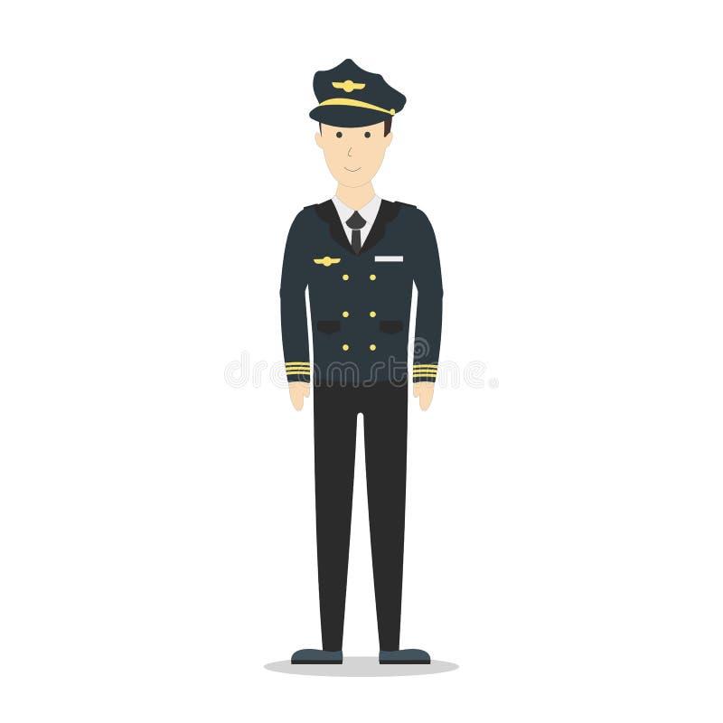 Pilote d'isolement sur le blanc illustration de vecteur