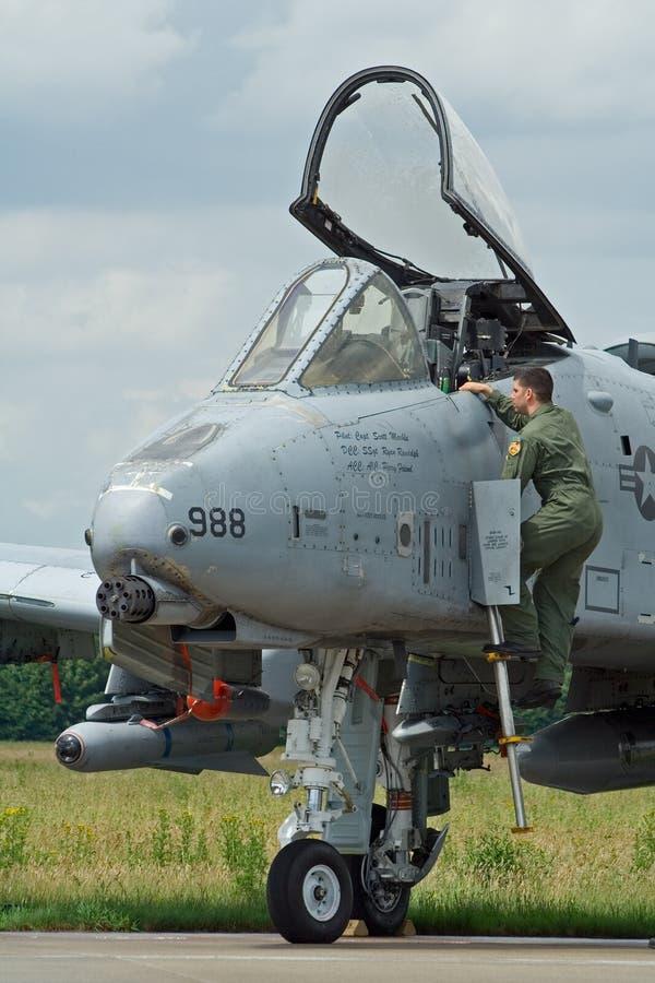 Pilote de l'U.S. Air Force A10 photo libre de droits