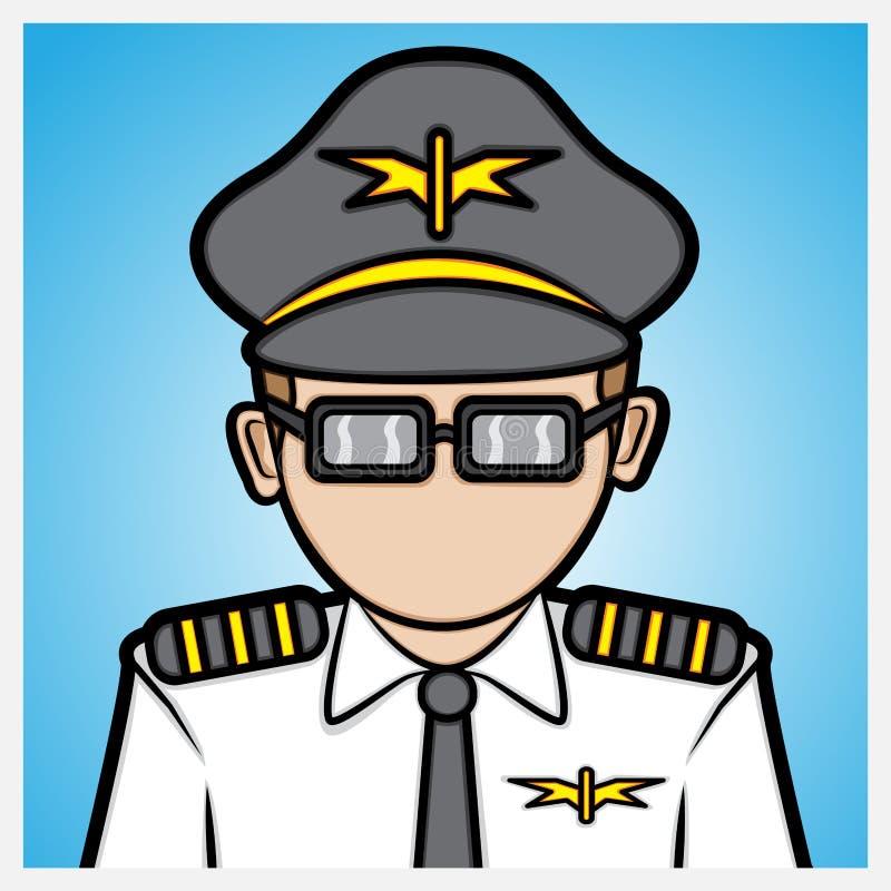 Pilote de ligne aérienne illustration stock