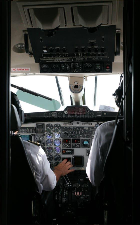 Piloten und Führerraum stockfotos