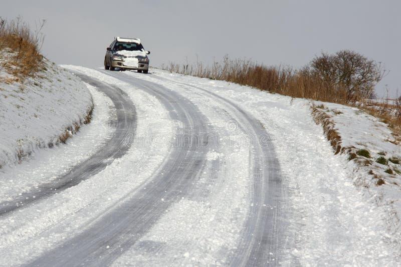 Piloter de l'hiver - Yorkshire du nord au R-U photo stock