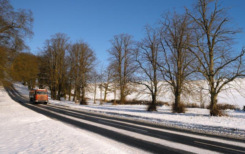 Piloter en hiver - Yorkshire - Angleterre image libre de droits