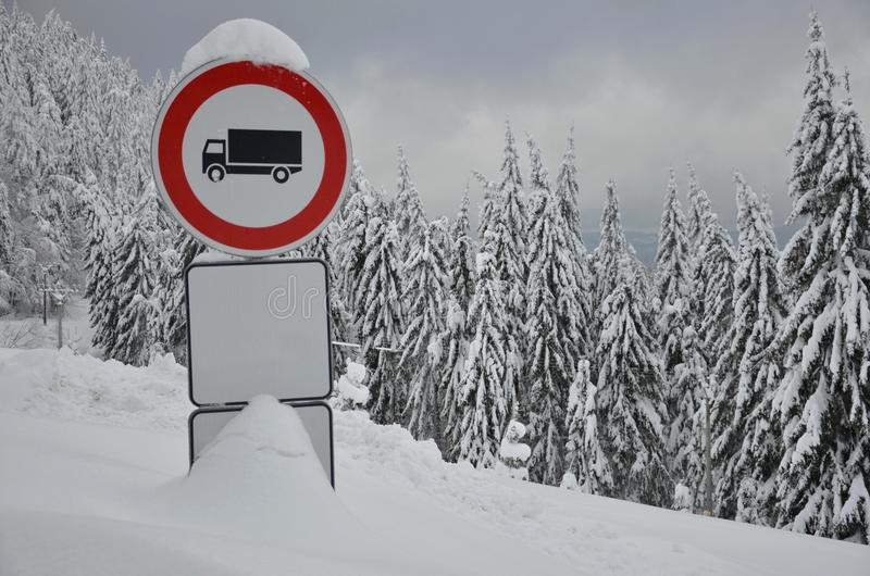 Piloter l'interdiction pour des camions. photos libres de droits