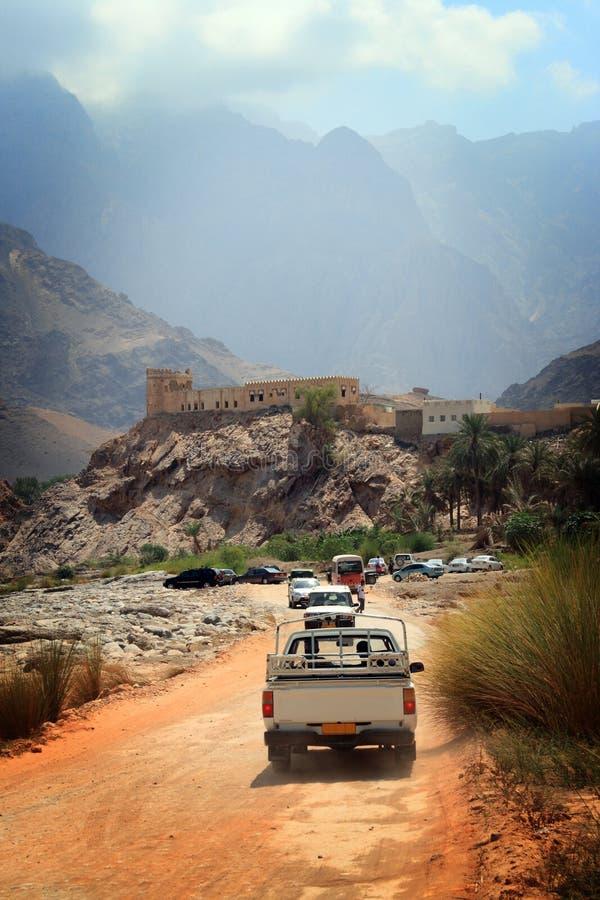 piloter l'oued de l'Oman image stock