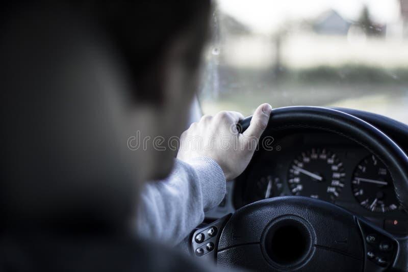 Piloter une vue de Car photographie stock