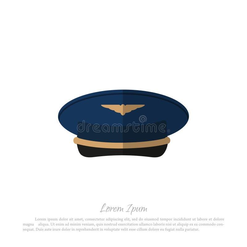 Pilotes d'avions civils de coiffe Dessin dans un style plat sur un wh illustration de vecteur