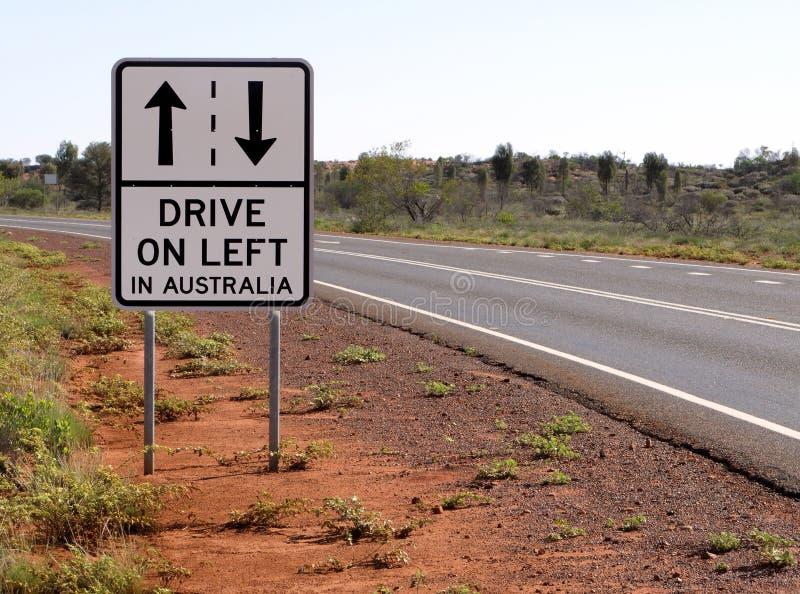 Pilotez sur la gauche en Australie image libre de droits