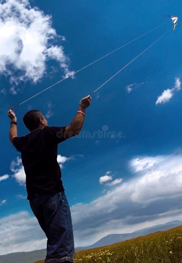 Pilotez un cerf-volant photographie stock