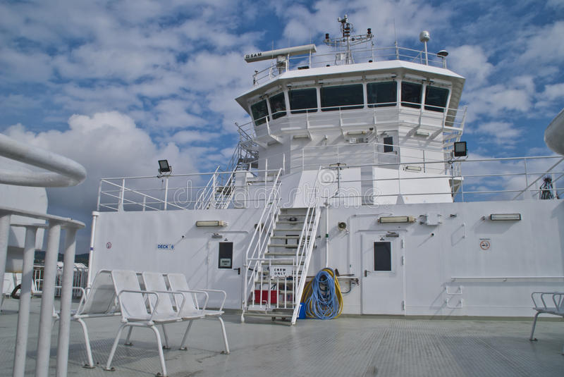 Download Pilothouse on a ferry stock image. Image of machine, construction - 26110623