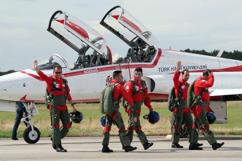Piloti turchi delle stelle immagine stock