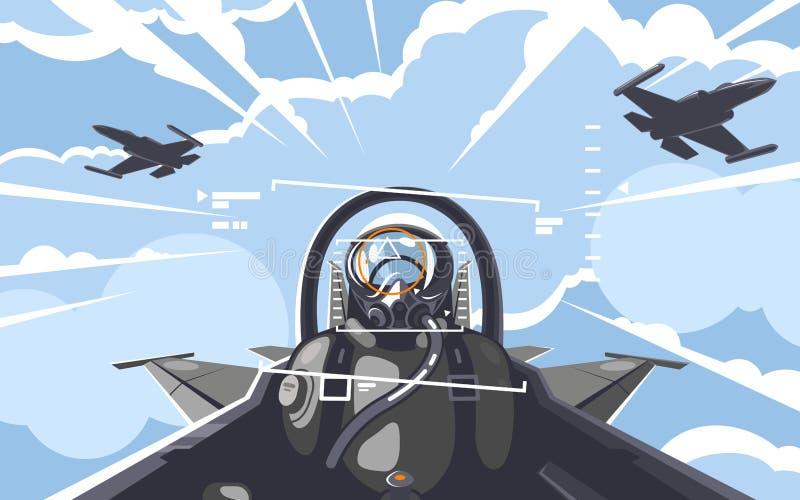 Piloto 2 stock de ilustración