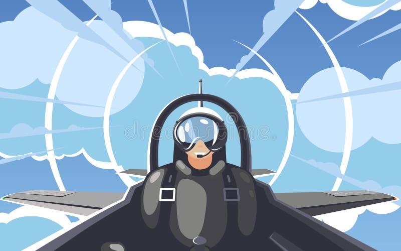 Piloto 2 ilustración del vector