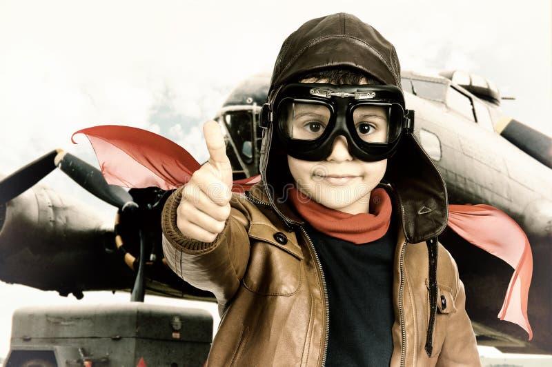 Piloto fotografia de stock